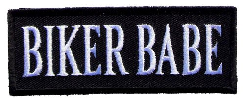 Leather Supreme Biker Babe Lady Rider Embroidered Biker Patch- White-Small