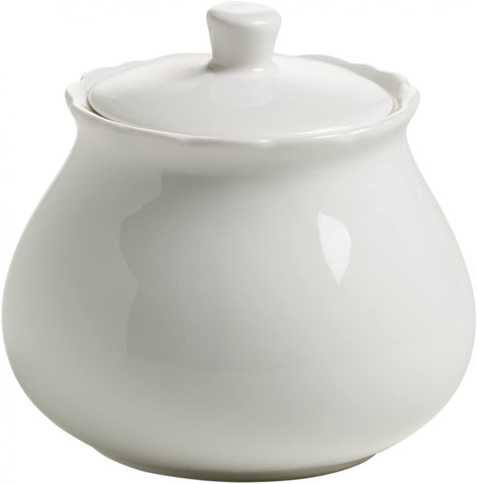 Maxwell /& Williams White Rose Sucrier en Porcelaine Blanc