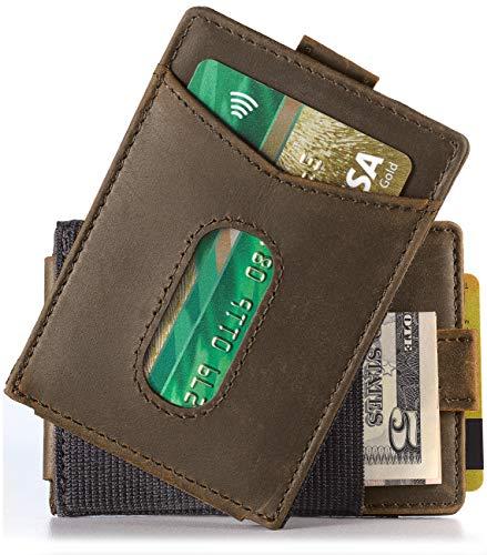 (Urban Tribe Slim Money Clip Wallet EDC Front Pocket Card Holder Minimalist RFID Sleeve Wallet)