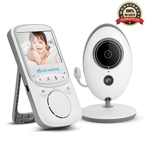 最低价格 Video Baby Monitor Wireless with Digital Camera,Anmade Way Talkback, .4inch Screen Night Vision Temperature Monitoring
