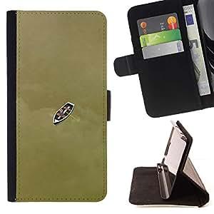 For LG G2 D800 Case , Barco profundo significado de bronce de Brown- la tarjeta de Crédito Slots PU Funda de cuero Monedero caso cubierta de piel