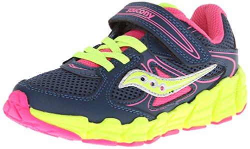 Toddler Girl's Saucony 'Kotaro' Sneaker  Navy/ Pink/ Citron