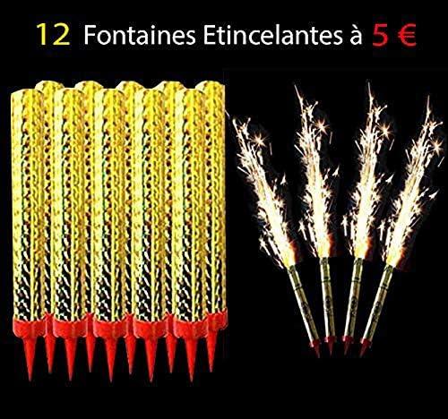 Bougies dambiance Fontaine dartifice pour g/âteau danniversaire Lot de 12 Bougies Fontaines des Glaces Cat/égorie F1 GomoX