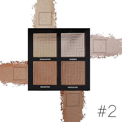 (S.H.EEE 4 Colors Makeup Face Concealer Matte Powder Wear Brightening Makeup (B))