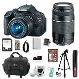 Canon EOS Digital Rebel T3i 18MP SLR Camera 18-55mm & 75-300mm Super Bundle!