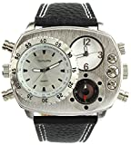 YouYouPifa Hot Selling 3 Dial Stainless Steel Quartz Watch (White)