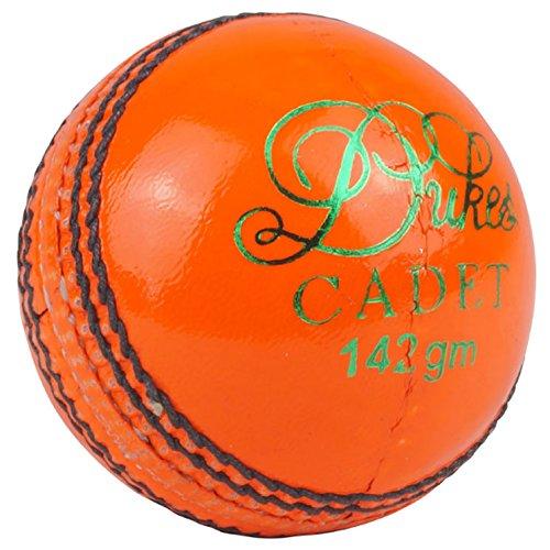 Dukes Cadet A Farbige Match Cricket Bälle Junior 142g (4, 75Unzen) 75Unzen) Orange orange