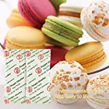 200CC(100-Pack) Food Grade Oxygen Absorbers Packets For Food Storage Food Grade Oxygen Absorbers Storage Packets With Oxygen Indicator In Vacuum Bag And 3 Times Oxygen Absorption Capacity