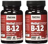 Jarrow Formulas Methyl B12, Methylcobalamin (2 X 60) For Sale