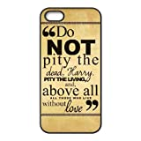 Durable Rubber Cases iPhone 5, 5S Cell Phone Case Black Harry Potter quotes Aidmbe Protection Cover