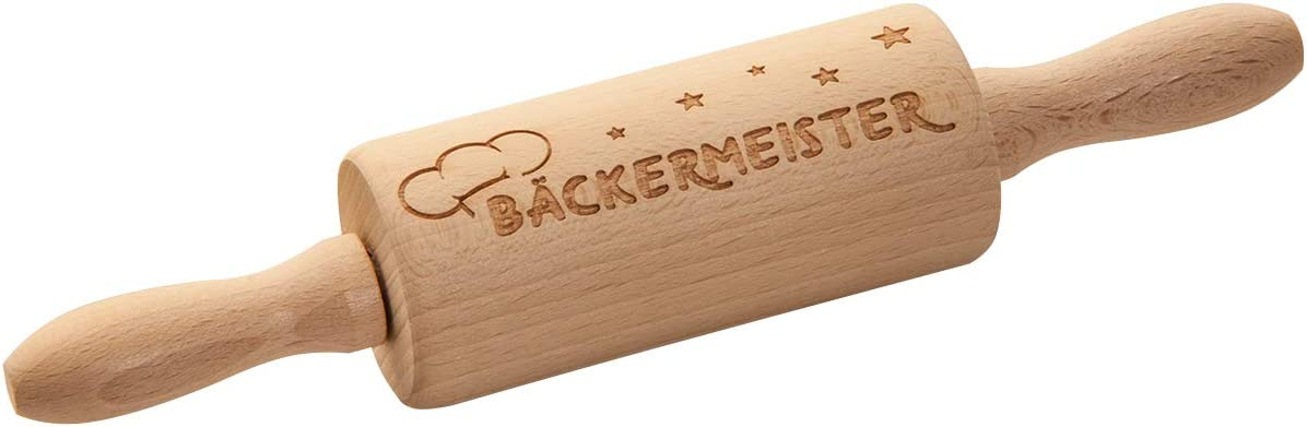 Biscuits Dough Roller as Baking Accessories Saying Hoop Premium Quality 100/% Emotional Childrens Rolling Pin with Engraving Baking Wooden Baking Roll Bakers master Rolling Pin for Children