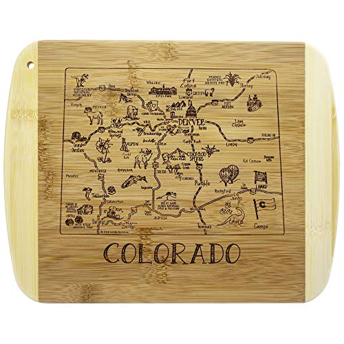 Totally Bamboo A Slice of Life Colorado Bamboo Serving and Cutting Board