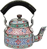 Craftkriti Decorative Aluminium Hand Painted Tea Kettle,Pot,Multicolor Tea Pot/Kettle Art, Tea Kettle Hotel,Restaurant,Home,Garden,Kitchen&Dining decore,Serve Ware, Table Ware Home Décor