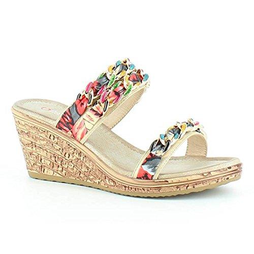 Heavenly Feet - Sandalias de vestir para mujer dorado