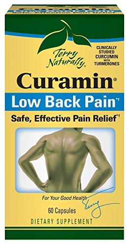 Terry Naturally Curamin Low Back Pain - 60 Vegan Capsules - Targeted Relief Supplement, Supports Healthy Cartilage & Comfort - Non-GMO, Gluten-Free - 20 -