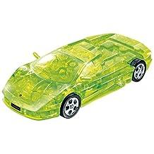 Lamborghini Murcielago Plastic 3D Assembly Puzzle Car - Green Crystal Color 64 pieces puzzle in scale 1:32 by Puzzle Fun 3D