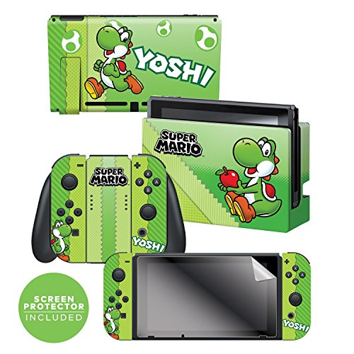 Controller Gear Skin   Screen Protector Set Super Mario Evergreen  Yoshi Eggs    Nintendo Switch