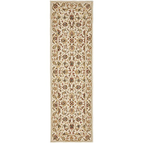 Safavieh Chelsea Collection HK78C Hand-Hooked Ivory Premium Wool Runner (2'6