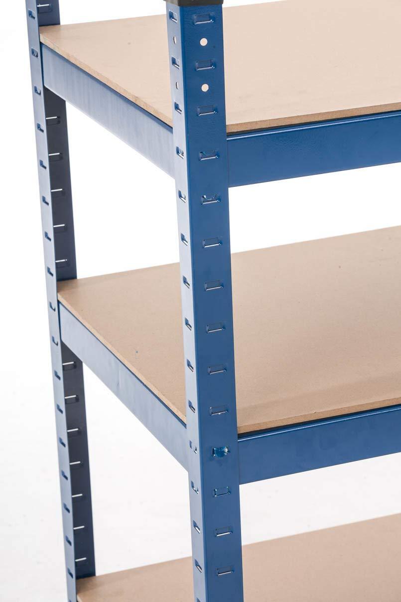 Azul CLP Estanter/ía Met/álica 90x45x90 cm I Estanter/ía Galvanizada con Capacidad por Estante de 175 kg I Soporte Estanter/ía de 3 Baldas I Color