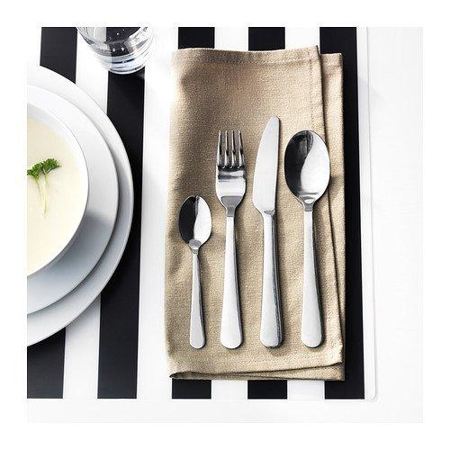IKEA DRAGON - 24 piezas Juego de cubiertos, acero inoxidable: Amazon.es: Hogar