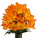 Orange-Amaryllis-Artificial-Bouquet-featuring-the-Stay-In-The-Vase-Designc-Flower-Holder-MD2081