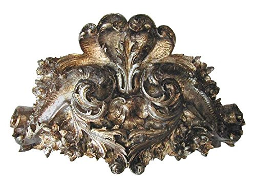 HMH HMH2926GS Lille Bedcrown Gilt Silver Old World Finish