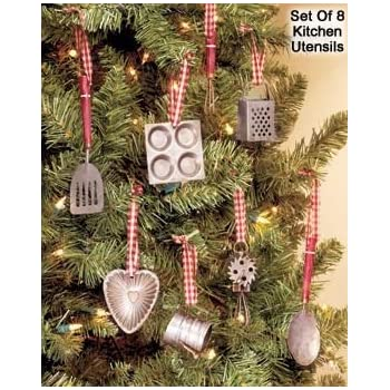 Miniature Kitchen Utensils Christmas Tree Ornaments (Set of 8 Ornaments) - Amazon.com: Miniature Kitchen Utensils Christmas Tree Ornaments (Set