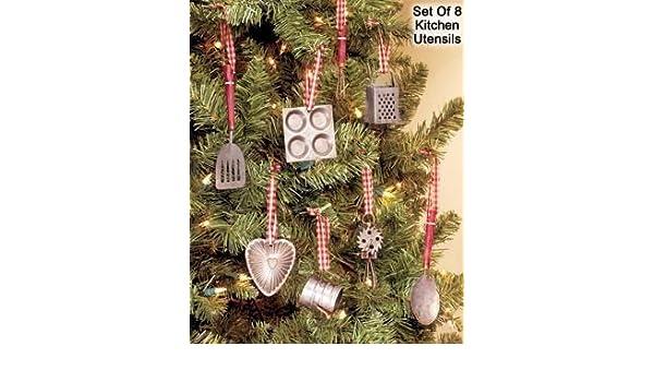 Amazon.com: Miniature Kitchen Utensils Christmas Tree Ornaments (Set of 8  Ornaments): Kitchen & Dining - Amazon.com: Miniature Kitchen Utensils Christmas Tree Ornaments (Set