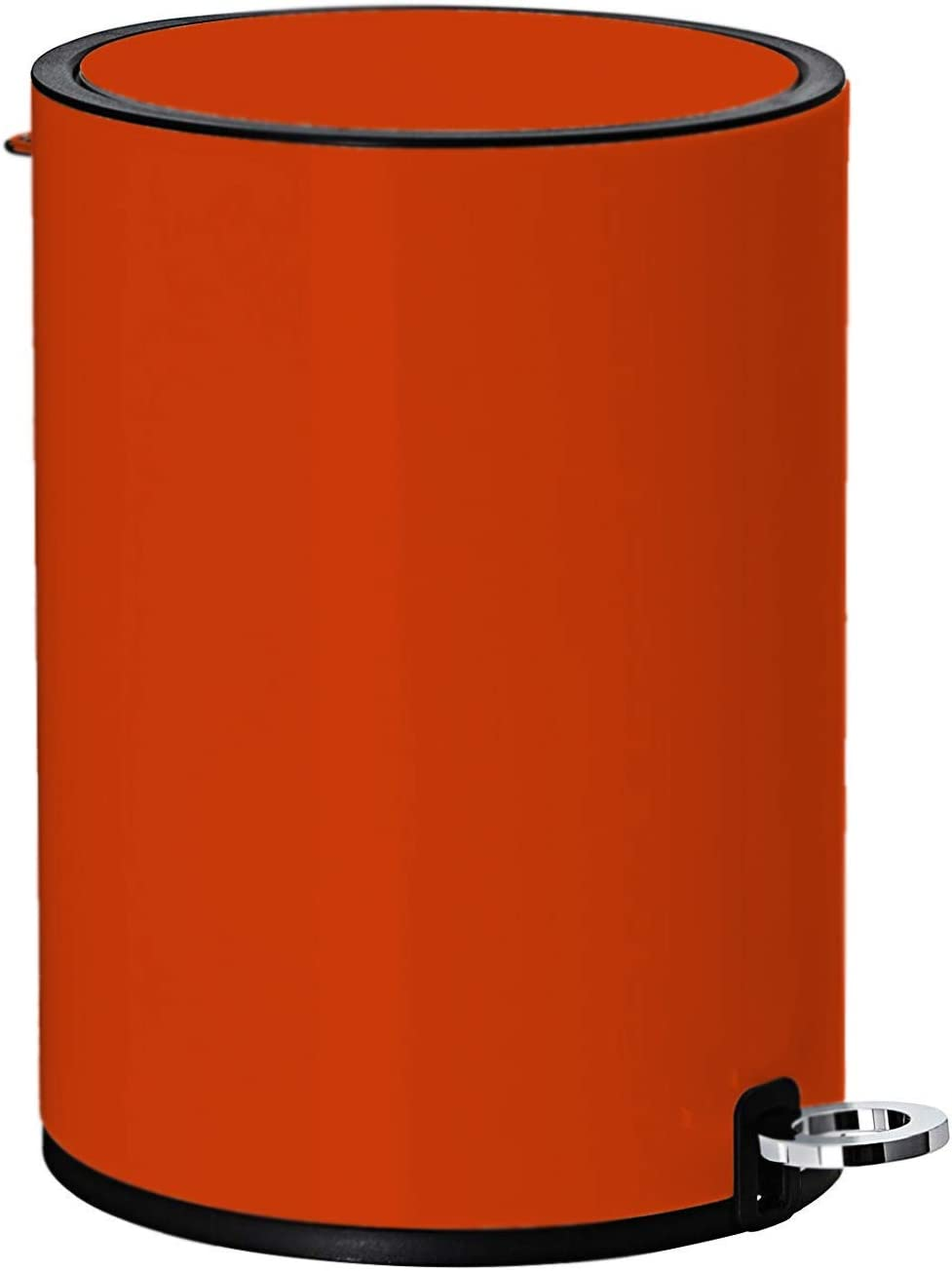 Grey, 6L FurnitureXtra/™ Modern Style Powder Coated Soft Close Pedal Bin ABS lid Plastic Inner bucket