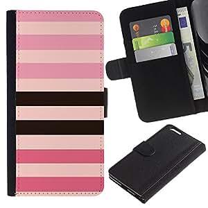 iBinBang / Flip Funda de Cuero Case Cover - Rose - Apple Iphone 6 PLUS 5.5