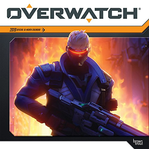 Overwatch 2019 12 x 12 Inch Monthly Square Wall Calendar, Video Game Multiplayer Shooter Blizzard Entertainment