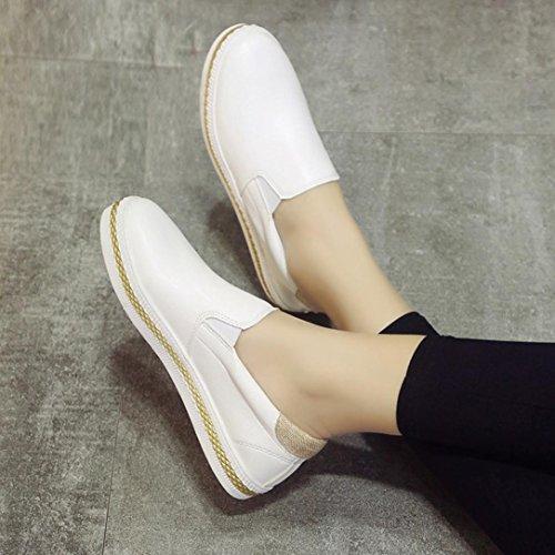 LANDFOX Zapatos de tacón alto para mujer Blanco