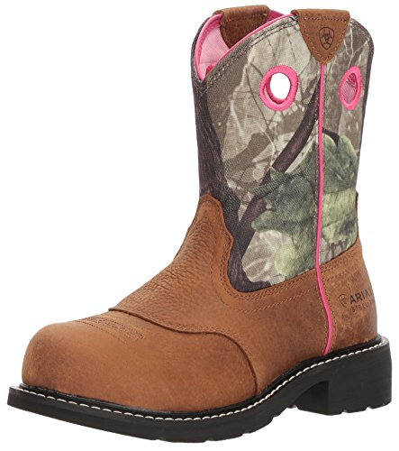Ariat Women's Fatbaby Heritage Steel Toe Industrial Boot, Toasted Auburn/Camo, 8.5 B US ()