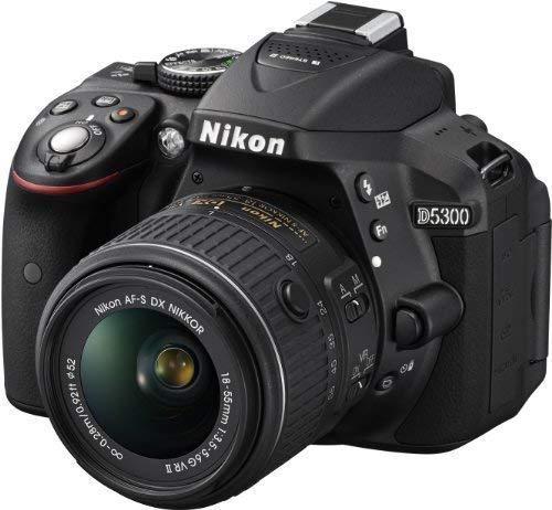 Nikon D5300 - Cámara Réflex Digital + Objetivo AF-P DX NIKKOR 18-55mm f/3.5-5.6G VR + SanDisk Ultra Tarjeta de Memoria SDHC de 32 GB - Negro
