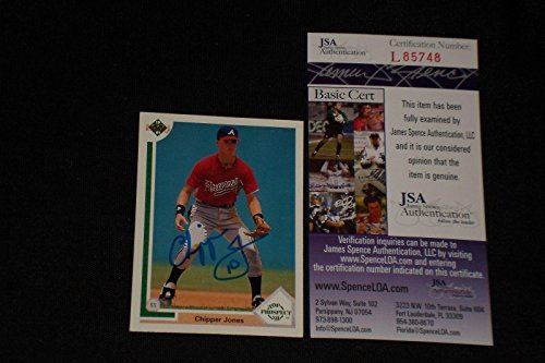 Chipper Jones 1991 Upper Deck Rookie Signed Autographed C...