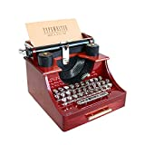 The Allytimes vintage typewriter music box is in the shape of a vintage typewriter. No battery need, it's Mechanical. Just wind up the spring by hand, and open the mini drawer, amazing! As music plays, the cylinder moves left and right just a...