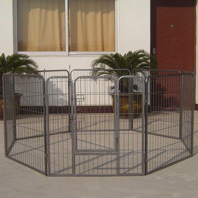 Iconic Pet Heavy Duty Metal Tube Playpen for Dog Exercise and Training, 48