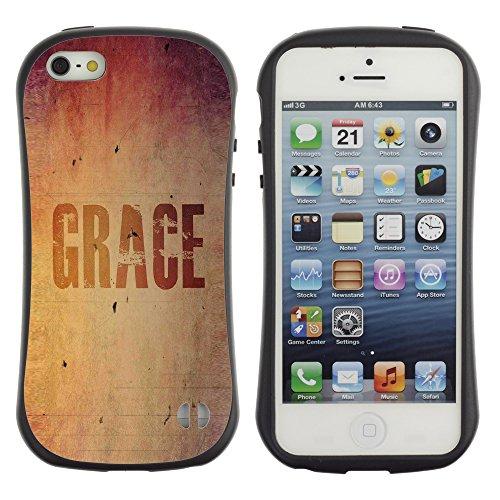 DREAMCASE Citation de Bible Silicone et Rigide Coque Protection Image Etui solide Housse T¨¦l¨¦phone Case Pour APPLE IPHONE 5 / 5S - GRACE