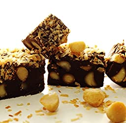 Calif Fudge Factory - Chocolate Coconut Macadamia Fudge - 1/2 Pound