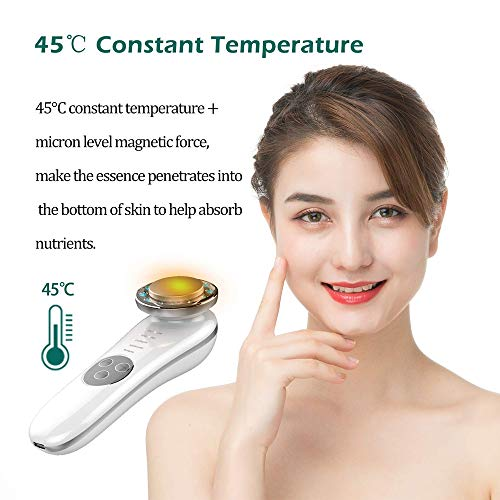 Facial Massager - 7 in 1 Face Cleaner Lifting Machine - High Frequency Machine - Promote Face Cream Absorption - LED Blue & Red Light Wave - Lift & Firm Tighten Skin Wrinkles - Skin Care Tools 4