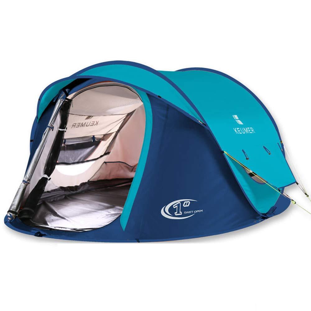 MJW Outdoor Camping Zelt 3-4 Personen Automatische Zelt Camping Camping Wilden Doppelten Regenschutz Schatten