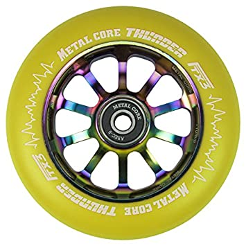 Metal Core Rueda Thunder Rainbow para Scooter Freestyle, Diámetro 110 mm (Amarillo): Amazon.es: Deportes y aire libre