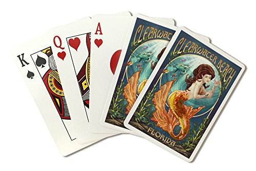 Clearwater Beach  Florida   Mermaid  Playing Card Deck   52 Card Poker Size With Jokers