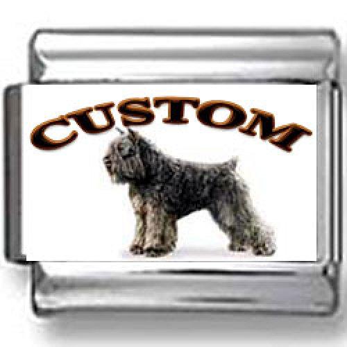 Bouvier des Flandres Dog Custom Photo Italian Charm ()