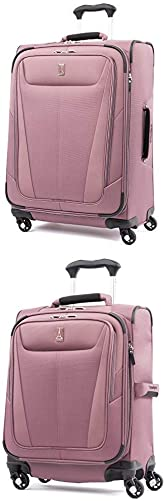 Travelpro Luggage Maxlite 5 Lightweight Expandable Suitcase 20 Carry-On Spinner Dusty Rose