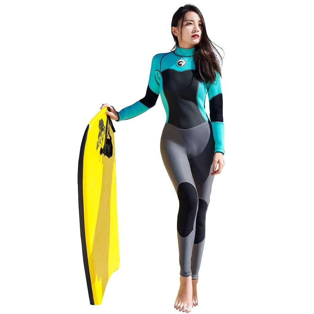 WoCoo Premium Neoprene Wetsuit, 1.5 mm Full Suit Scuba Diving Thermal Anti-UV Back Zip Stretch Surf Suit Scuba Wetsuits(Black,Medium) by WoCoo