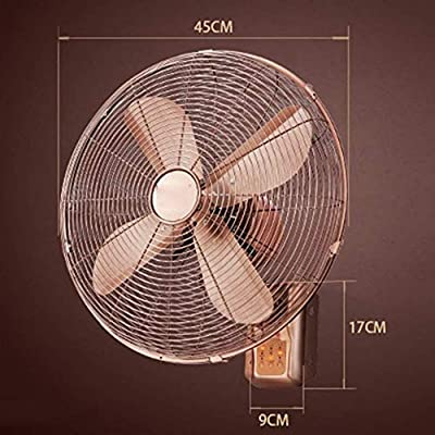 FANg Ventilador eléctrico del hogar Ventiladores de Pared de Metal Creativo de la Vendimia/Sacudir Tiempo de Control Remoto Ventilador/Antiguo hogar Cabeza del Ventilador eléctrico/Continental Ahorro: Amazon.es: Hogar