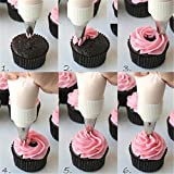 Bestsupplier INC 24PCS Icing Piping Nozzles Tips DIY Pastry Cake Cupcake Sugarcraft Decorating Modelling Tool Box Set Kitchen Accessories