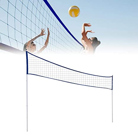 Soccer Tennis Lawn Tennis Outdoor Portable Volleyball Net Folding Adjustable Volleyball Badminton Tennis Net for Playing Kids Volleyball