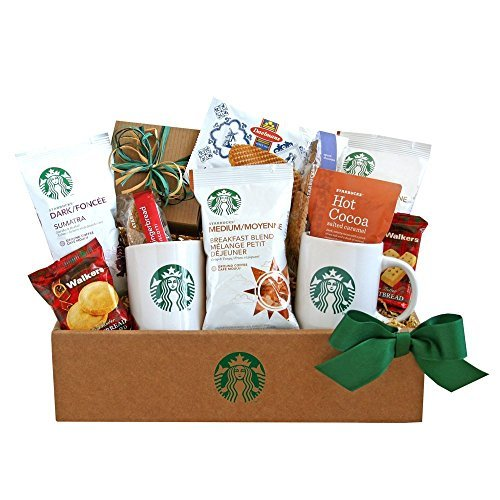 The Sweetest Combination | Starbucks Coffee and Cocoa Gourmet Gift Basket by Organic Stores (Gift Basket Starbucks)